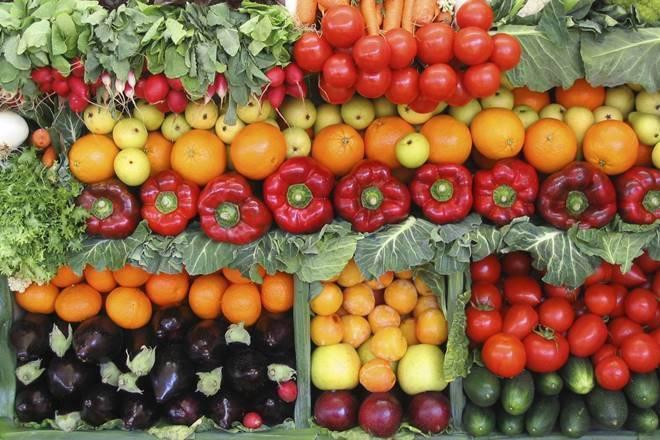 vegetales en supermercado