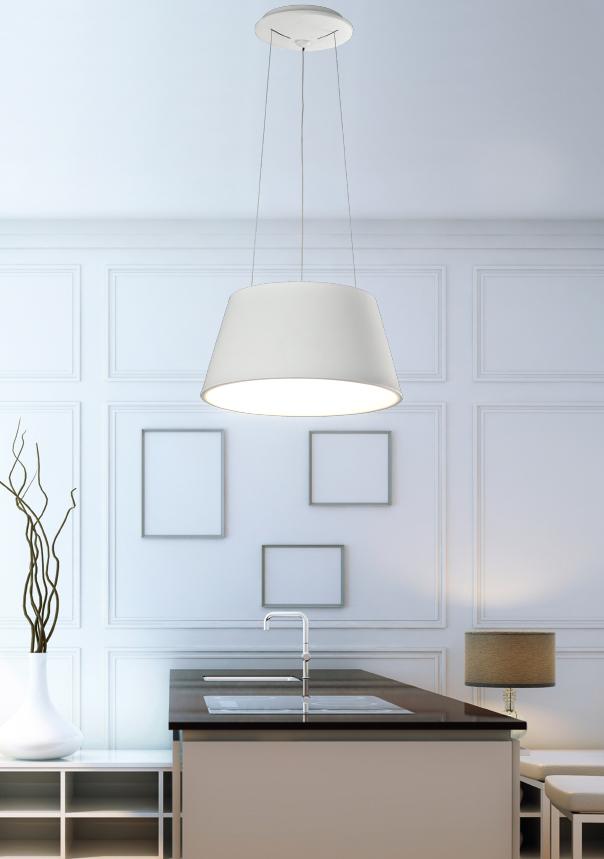 Oslo colgante decorativo aluminio+PC redondo blanco 36W 4000K