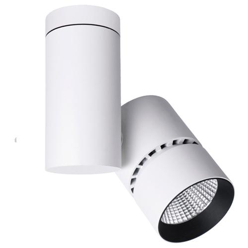 Foco LED 45W ajustable de superficie en aleación de aluminio.