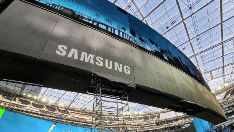 cartel gigante Samsung